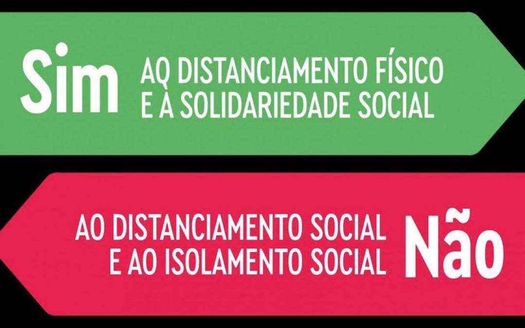 Distanciamento social, não, por favor…