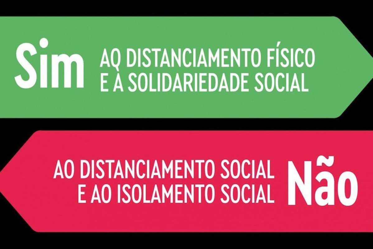 Distanciamento social, não